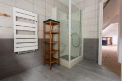 Une salle de douche confortable